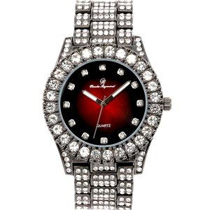 Bling-ed Out Round Watches - ST10327-GUNTONE
